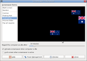 Australian flag screensaver